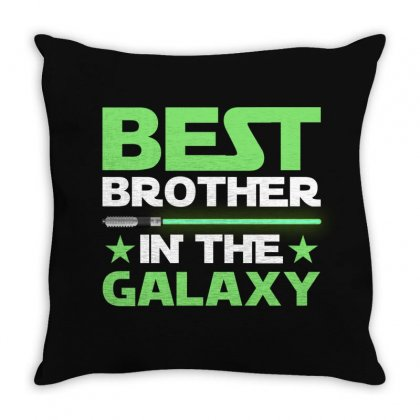 Best Brother In The Galaxy For Dark Throw Pillow Designed By Gurkan