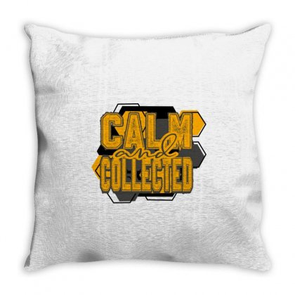 Calm&collected Throw Pillow Designed By Idealist-003