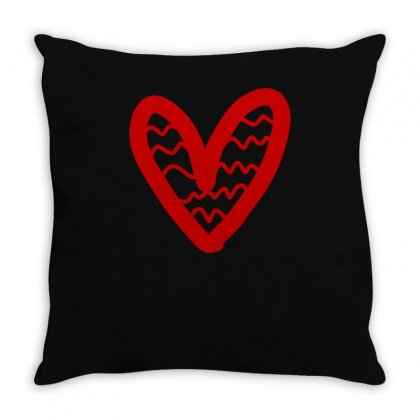 Heart Painted New Throw Pillow Designed By S4bilal