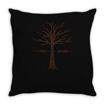Lovely Autumn Throw Pillow Designed By S4bilal