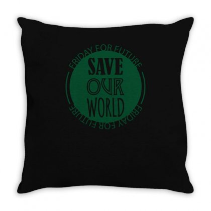 Save Our World Throw Pillow Designed By S4bilal