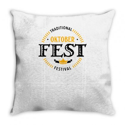 Traditional Oktober Festival Throw Pillow Designed By S4bilal