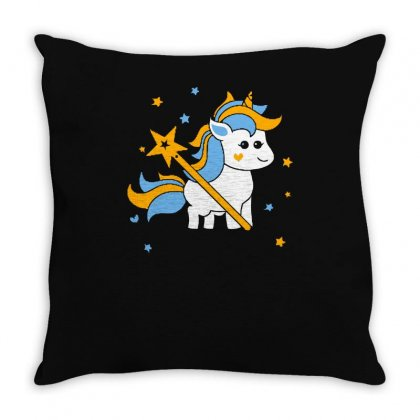 Unicorn Squad Throw Pillow Designed By S4bilal