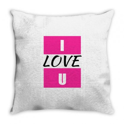 I Love You Throw Pillow Designed By Elegance99