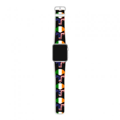 Irish American Flag Skull Apple Watch Band Designed By Kakashop