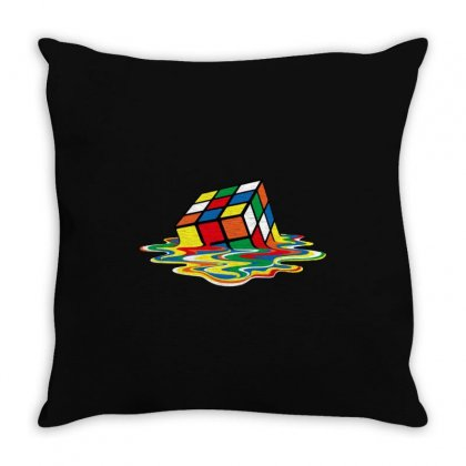 Rubik's Cube Cool Throw Pillow Designed By Jablay
