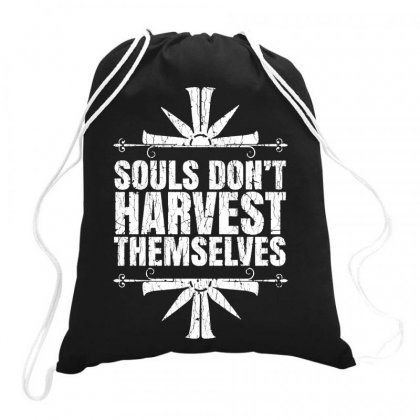 Harvest Themselves Drawstring Bags Designed By Jablay