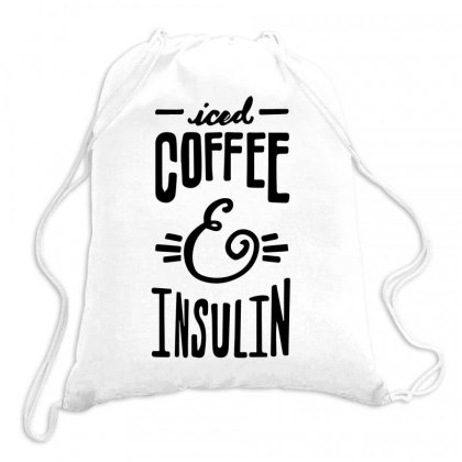 Iced Coffee Insullin Sugars Drawstring Bags Designed By Hoainv