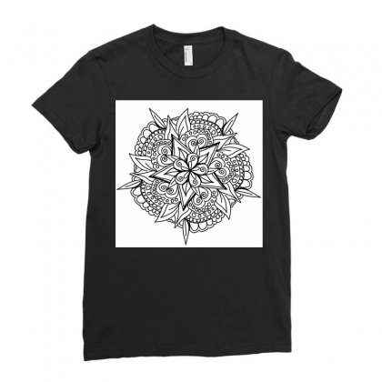 Drawing,ethnic,handicraft,unique,natural,handmade,old Fashion,teenager Ladies Fitted T-shirt Designed By Artist1