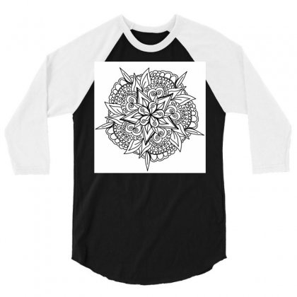 Drawing,ethnic,handicraft,unique,natural,handmade,old Fashion,teenager 3/4 Sleeve Shirt Designed By Artist1