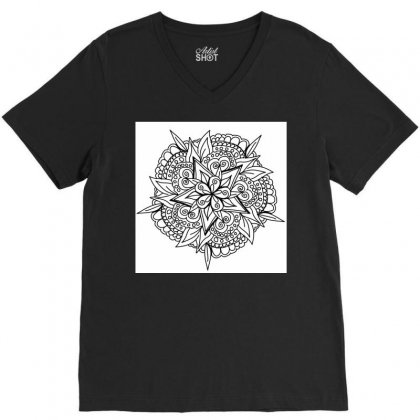 Drawing,ethnic,handicraft,unique,natural,handmade,old Fashion,teenager V-neck Tee Designed By Artist1