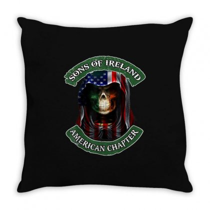 Son Of Ireland American Chapter Throw Pillow Designed By Kakashop