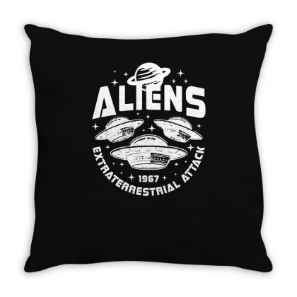 Alien Extraterrestrial Throw Pillow Designed By S4bilal
