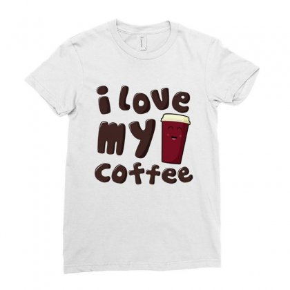 Longtime Coffee Love Ladies Fitted T-shirt Designed By Hoainv