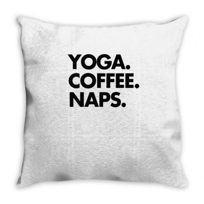 Yoga Coffee Naps Throw Pillow Designed By Hoainv