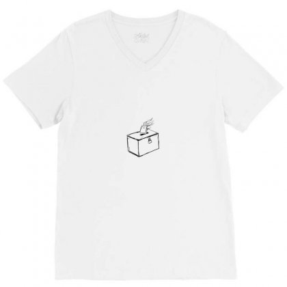 Donation V-neck Tee Designed By Preeproject