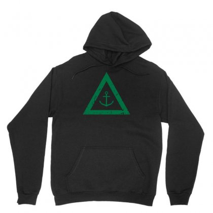 Hipster Anchor Triangle Unisex Hoodie Designed By S4bilal