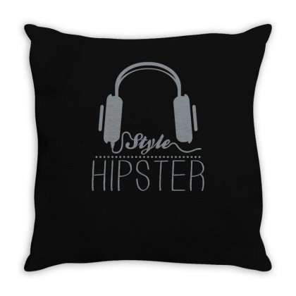 Hipster Headphones Throw Pillow Designed By S4bilal