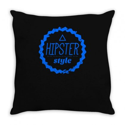 Hipster Style Logo Throw Pillow Designed By S4bilal