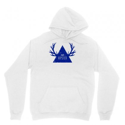 Hipster Triangle Antlers Unisex Hoodie Designed By S4bilal