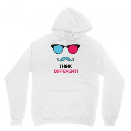 Think Different Hipster Unisex Hoodie Designed By S4bilal