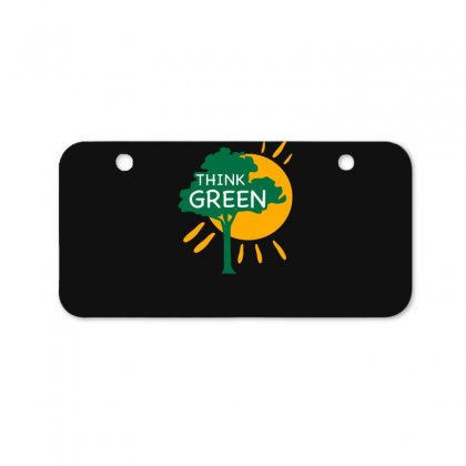 Think Green Bicycle License Plate Designed By S4bilal