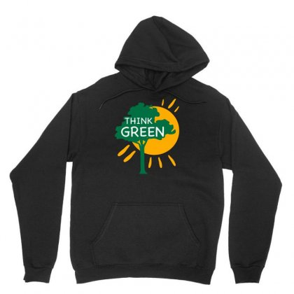 Think Green Unisex Hoodie Designed By S4bilal