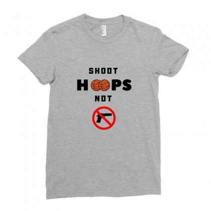 Shoot Hoops Not People Ladies Fitted T-shirt Designed By Coolmarcell