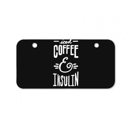 Diabetes Iced Coffee And Insulin Bicycle License Plate Designed By Hoainv