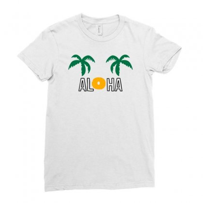 Aloha Ladies Fitted T-shirt Designed By S4bilal