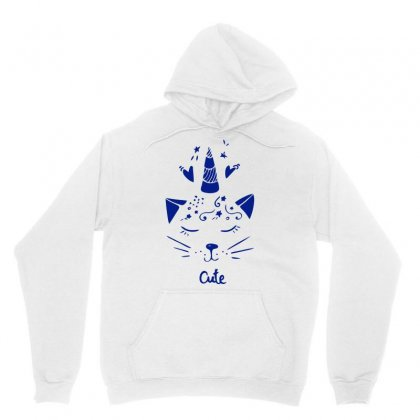 Cute Unicorn Cat Unisex Hoodie Designed By S4bilal