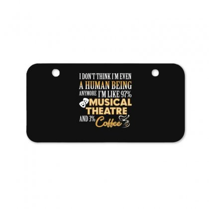 I Like Musical Theatre And Coffee Bicycle License Plate Designed By Hoainv