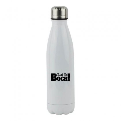 Thank You Boch Stainless Steel Water Bottle Designed By Coolmarcell