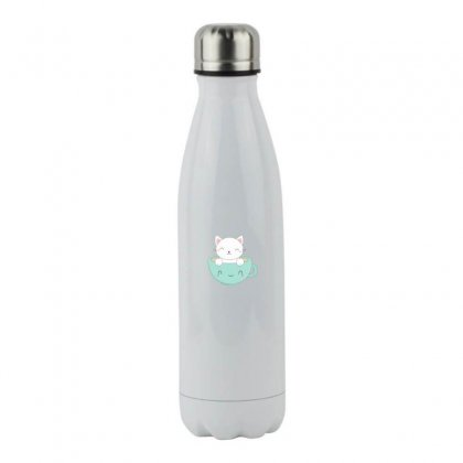 Lovely Coffee And  Cat Stainless Steel Water Bottle Designed By Hoainv