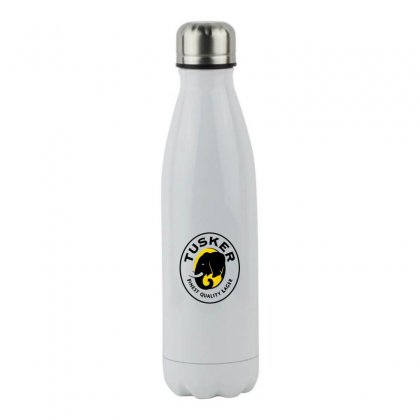 Tusker Lager Logo Stainless Steel Water Bottle Designed By Coolmarcell