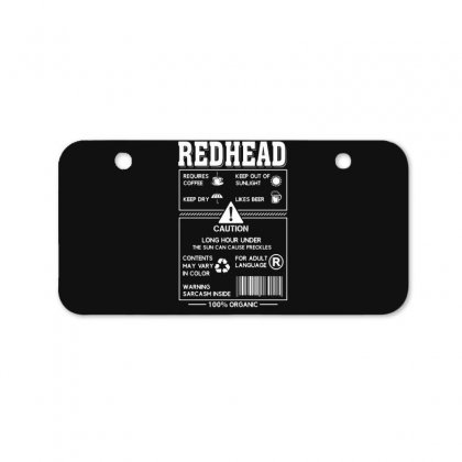 Redhead Requires Coffee Keep Dry Likes Beer Bicycle License Plate Designed By Hoainv