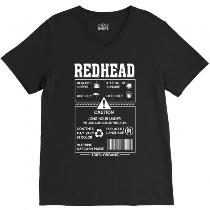 Redhead Requires Coffee Keep Dry Likes Beer V-neck Tee Designed By Hoainv
