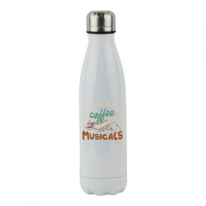 This Girl Runs On Coffee And Musicals Stainless Steel Water Bottle Designed By Hoainv