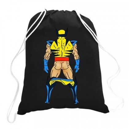 Funny Wolverine Sexy Butt Drawstring Bags Designed By Hot Maker