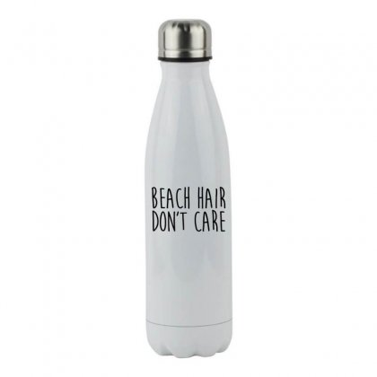 Beach Hair Don't Care Stainless Steel Water Bottle Designed By Hoainv