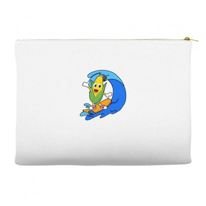 Corn Surfing On Waves Accessory Pouches Designed By Hoainv