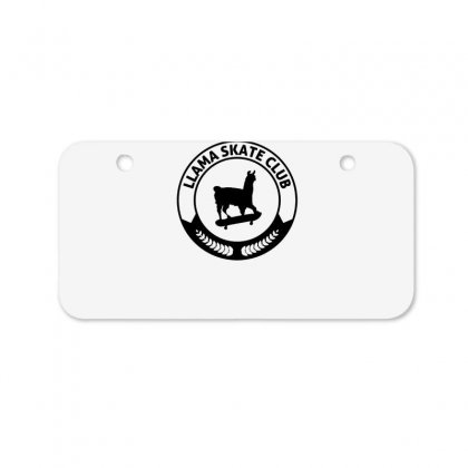 Funny Llama Skateboarding Bicycle License Plate Designed By Hoainv