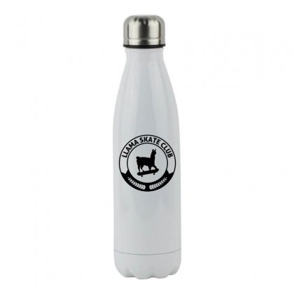 Funny Llama Skateboarding Stainless Steel Water Bottle Designed By Hoainv