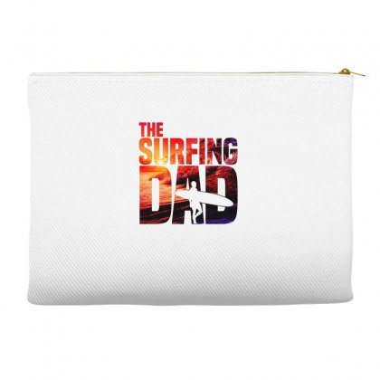 Mens Surfing Dad   Surfer Beach Fathers Day Accessory Pouches Designed By Hoainv
