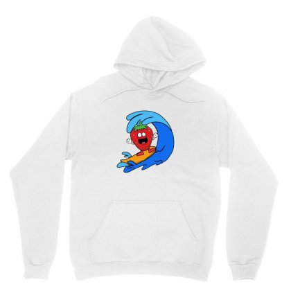 Strawberry Surfing On Waves Unisex Hoodie Designed By Hoainv
