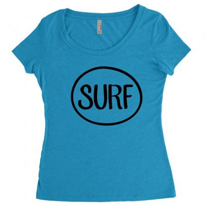 Surf T Shirt Women's Triblend Scoop T-shirt Designed By Hoainv
