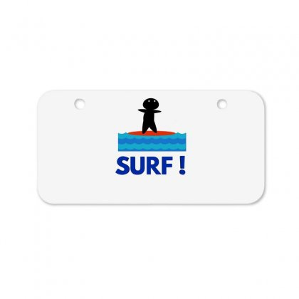 Surf Bicycle License Plate Designed By Hoainv