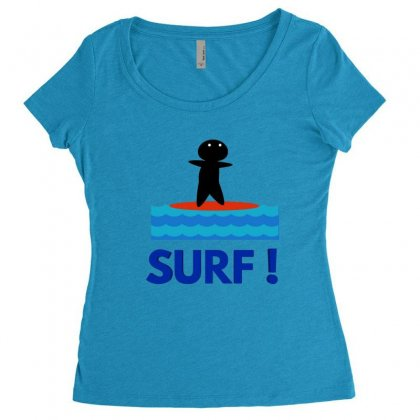 Surf Women's Triblend Scoop T-shirt Designed By Hoainv