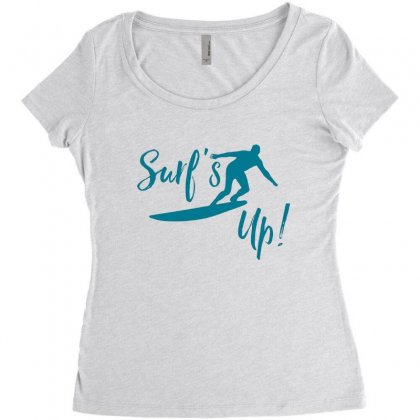 Surf's Up Women's Triblend Scoop T-shirt Designed By Hoainv