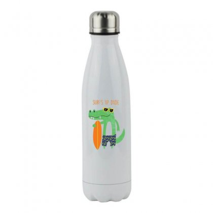 Surfer Dude Stainless Steel Water Bottle Designed By Hoainv